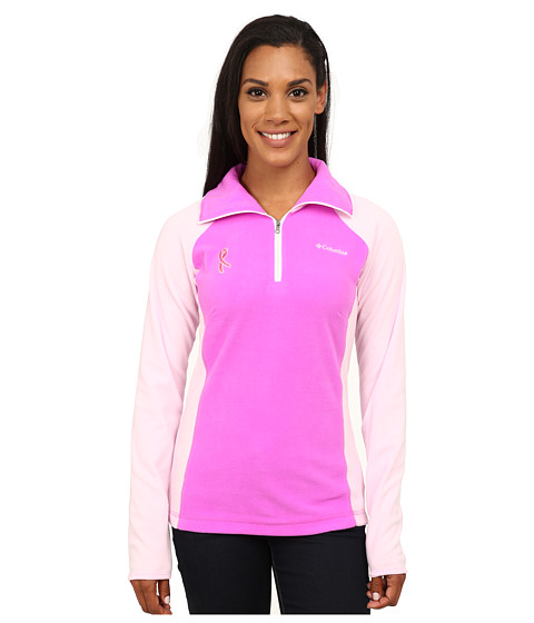 Columbia - Tested Tough in Pink Fleece Half Zip (Foxglove/Isla) Women