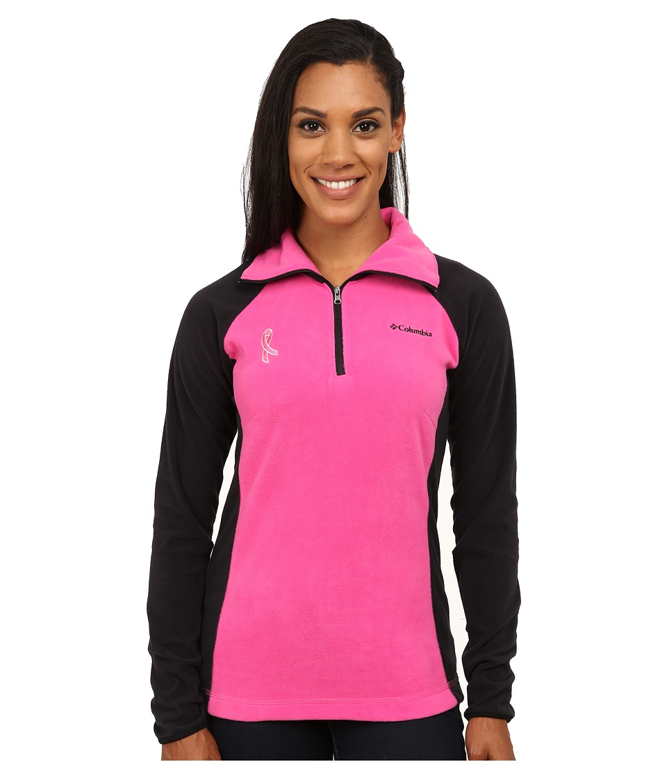 Columbia - Tested Tough in Pink Fleece Half Zip (Pink Ice/Black) Women's Long Sleeve Pullover