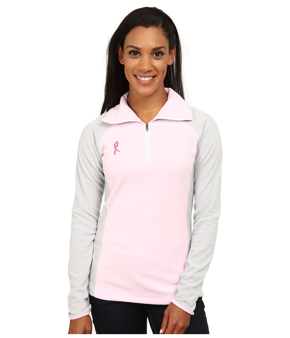 Columbia - Tested Tough in Pink Fleece Half Zip (Isla/Cool Grey) Women