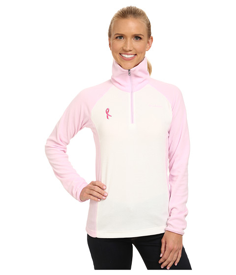 Columbia - Tested Tough in Pink Fleece Half Zip (Sea Salt/Isla) Women