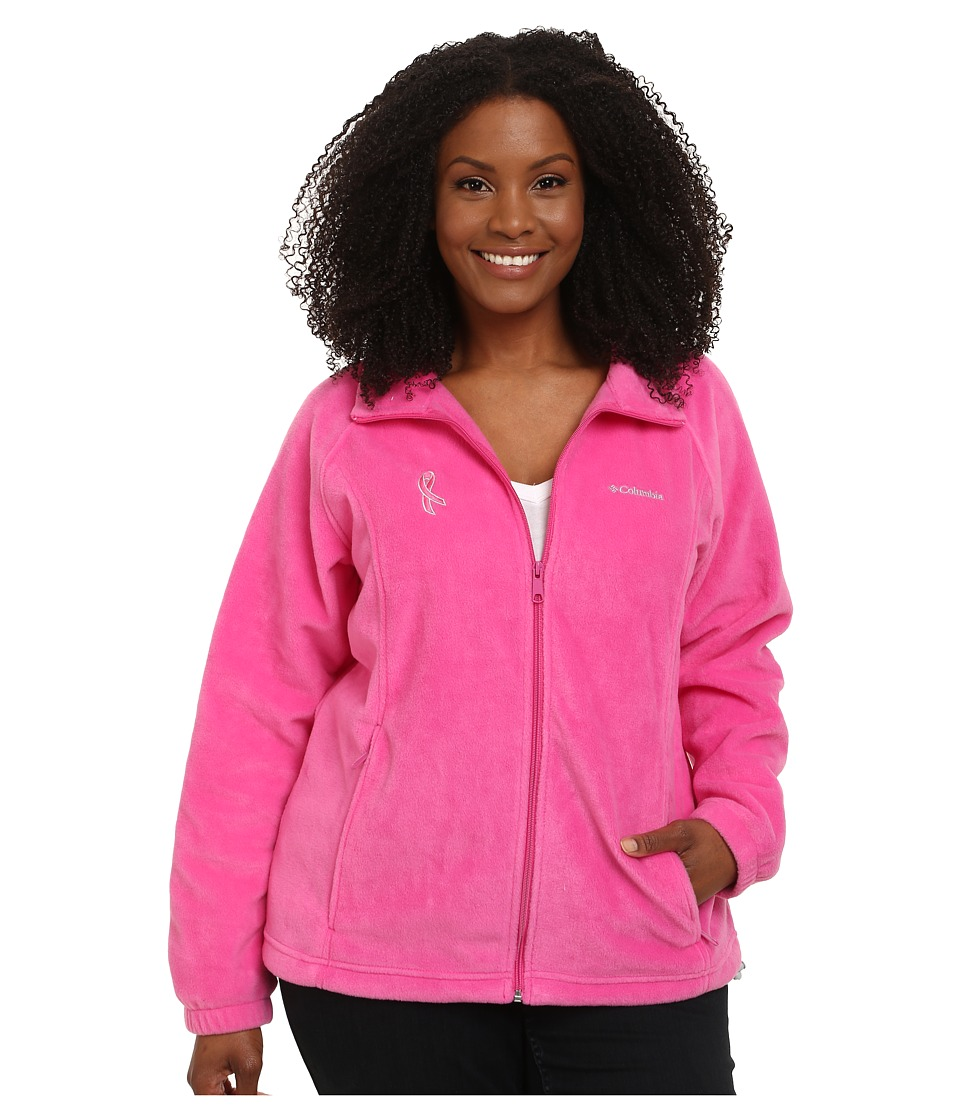 Columbia - Plus Size Tested Tough In Pink Benton Springs Full Zip (Pink Ice) Women's Coat