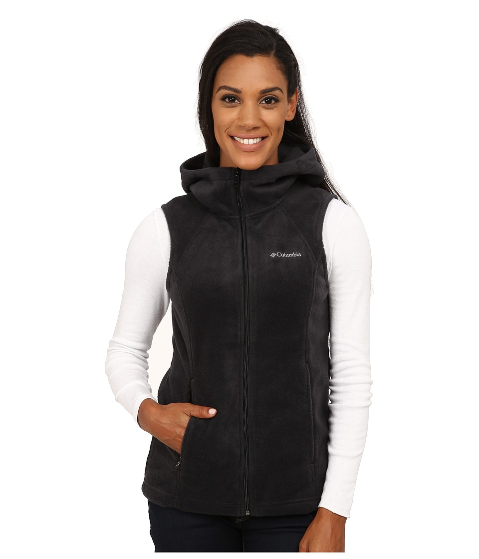 Columbia - Tested Tough in Pink Hooded Vest (Black) Women's Vest