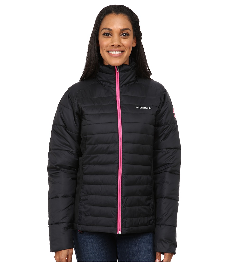 Columbia - Tested Tough in Pink Hybrid Jacket (Black) Women's Coat