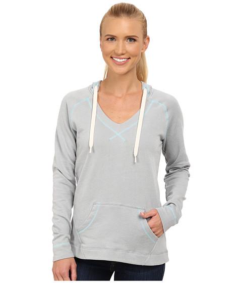 Columbia - Tropic Haven Solid Hoodie (Earl Grey Heather/Clear Blue) Women's Sweatshirt