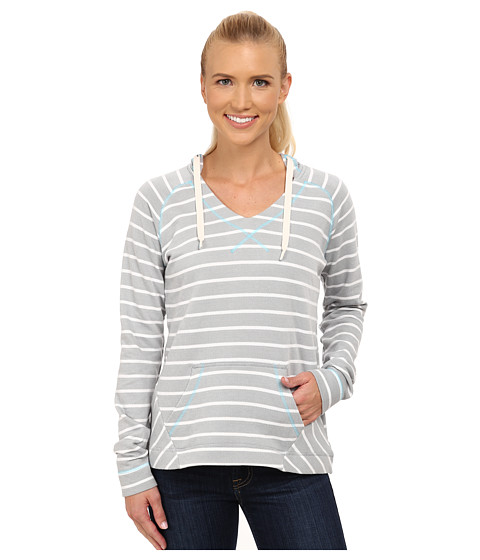 Columbia - Tropic Haven Stripe Hoodie (Earl Grey Stripe/Atoll) Women