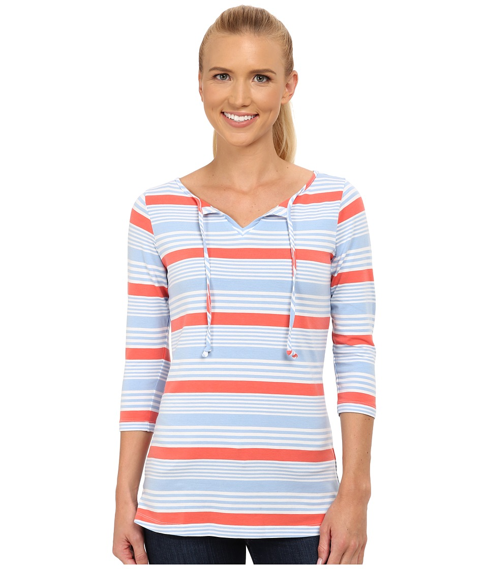 Columbia - Reel Beauty II 3/4 Sleeve Shirt (Sail Multi Stripe) Women