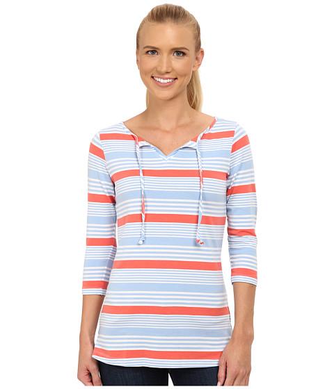 Columbia - Reel Beauty II 3/4 Sleeve Shirt (Sail Multi Stripe) Women's T Shirt