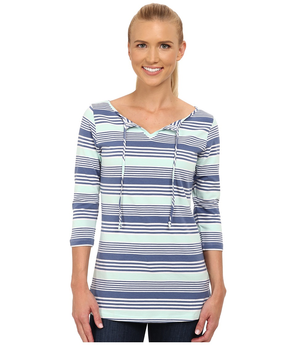 Columbia - Reel Beauty II 3/4 Sleeve Shirt (Bluebell Multi Stripe) Women