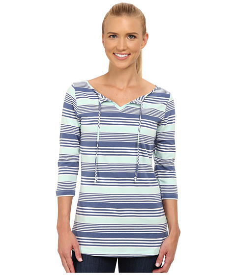 Columbia - Reel Beauty II 3/4 Sleeve Shirt (Bluebell Multi Stripe) Women's T Shirt