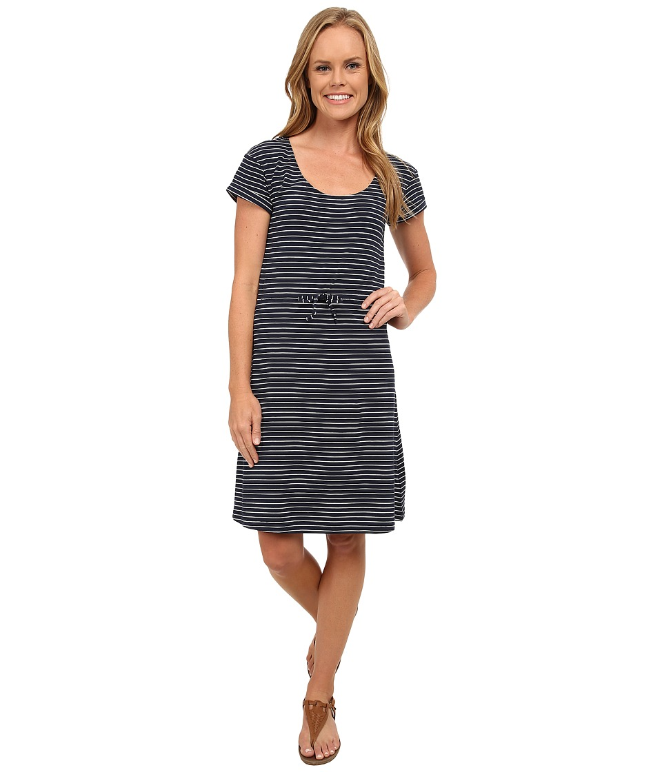 Columbia - Reel Beauty II S/S Dress (Collegiate Navy Small Stripe) Women's Dress