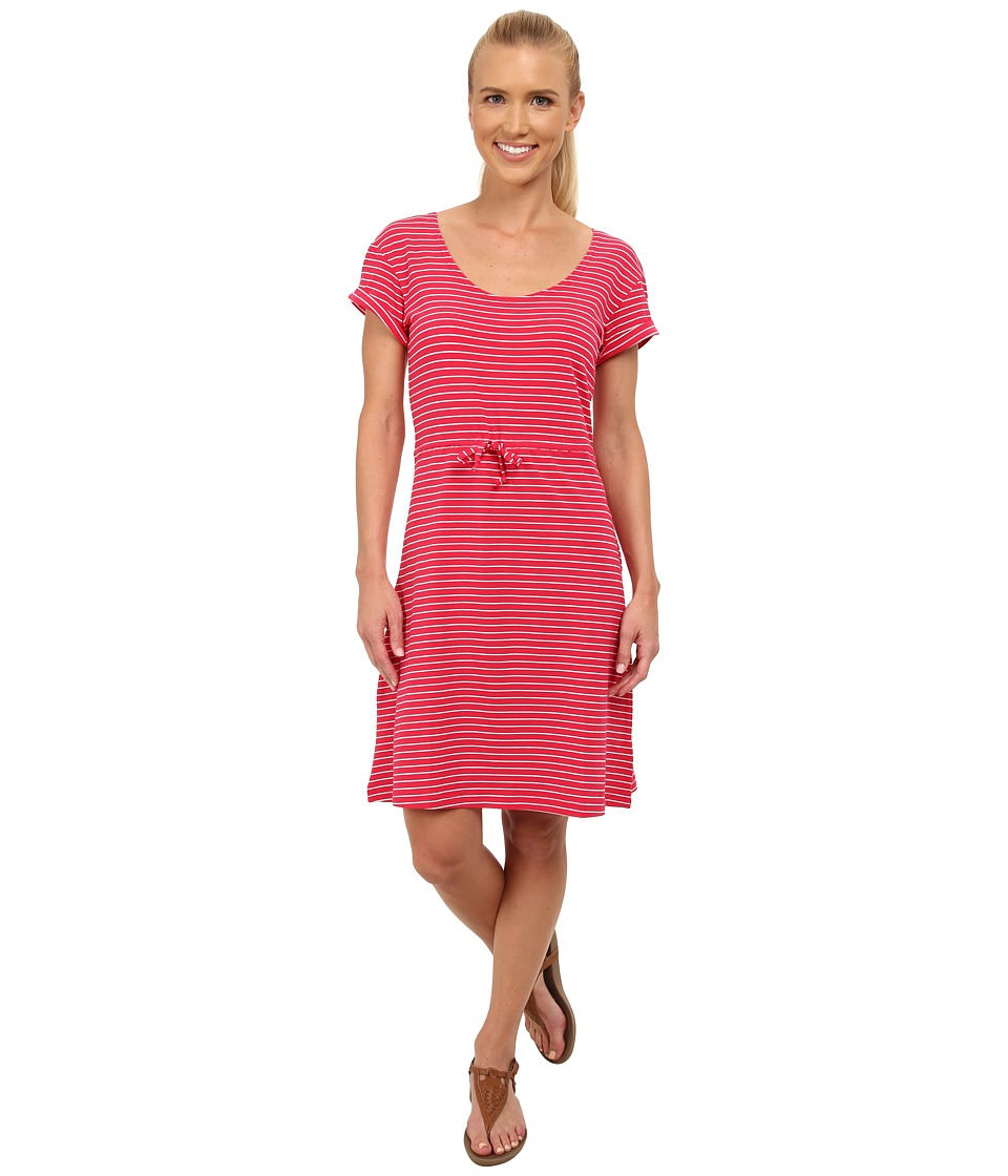 Columbia - Reel Beauty II S/S Dress (Ruby Red Small Stripe) Women's Dress
