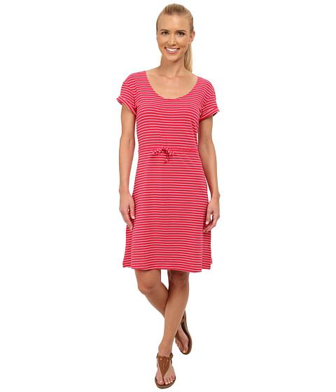 Columbia - Reel Beauty II S/S Dress (Ruby Red Small Stripe) Women