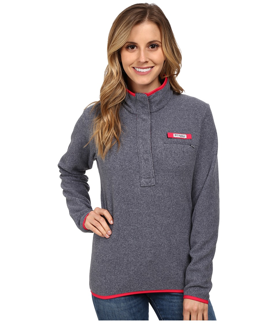 Columbia - Ombre Springs Fleece Jacket (Collegiate Navy Heater/Ruby Red) Women's Fleece