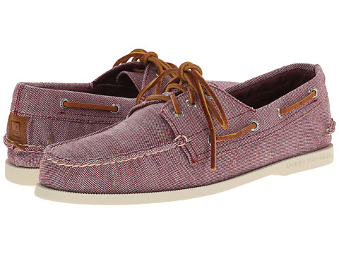 Sperry Top-Sider - A/O 3-Eye Fleck Canvas (Burgundy) Men's Lace up casual Shoes