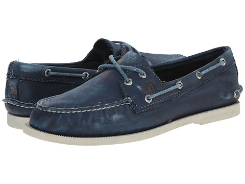 Sperry Top-Sider - A/O 2-Eye Color Wash 2 (Blue) Men's Lace up casual Shoes