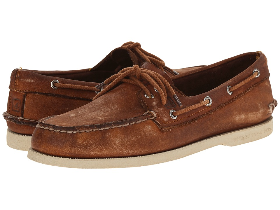 Sperry Top-Sider - A/O 2-Eye Color Wash 2 (Brown) Men's Lace up casual Shoes