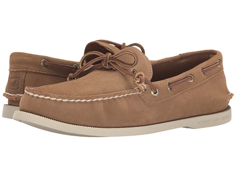 Sperry Top-Sider - A/O 1-Eye Leather (Tan Suede) Men's First Walker Shoes