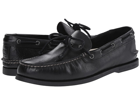 Sperry Top-Sider - A/O 1-Eye Leather (Black Leather) Men's First Walker Shoes
