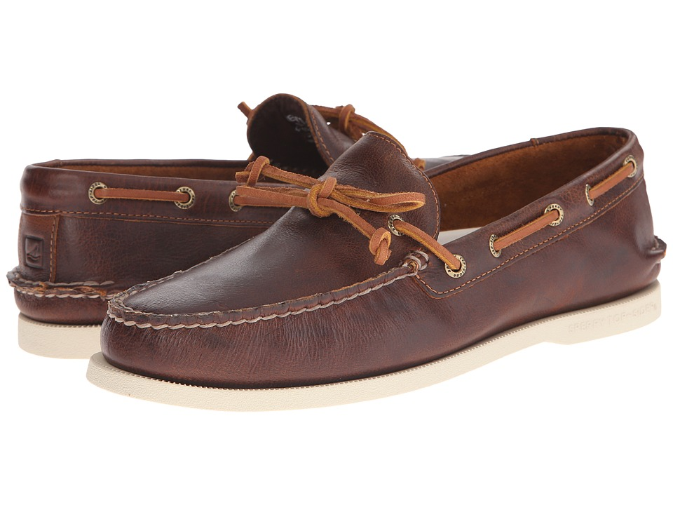 Sperry Top-Sider - A/O 1-Eye Leather (Tan Leather) Men