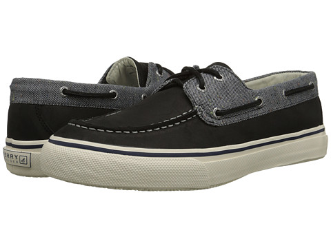 Sperry Top-Sider - Bahama 2-Eye Fleck Leather (Grey/Black) Men