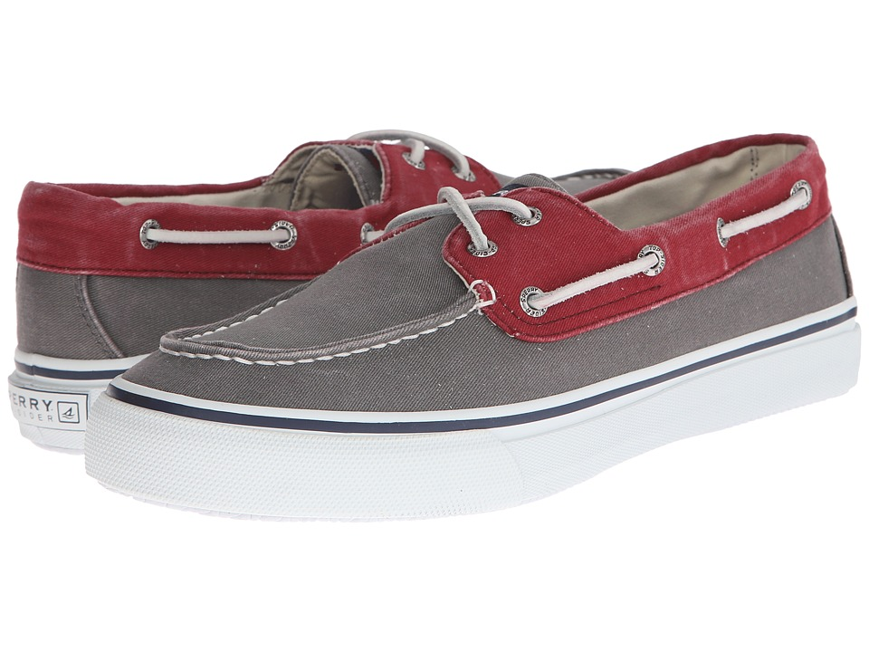 Sperry Top-Sider - Bahama 2-Eye (Charcoal/Red) Men's Slip on Shoes