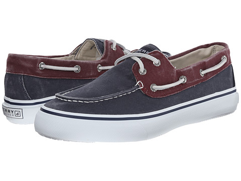 Sperry Top-Sider - Bahama 2-Eye (Navy/Burgundy Washed) Men's Slip on Shoes