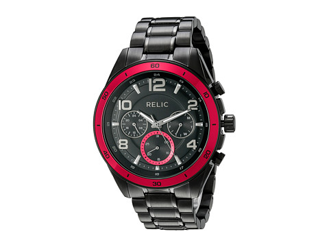 Relic - Caleb (Black/Black/Red) Watches