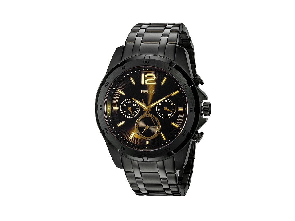 Relic - Gavin (Black/Laser Crystal) Watches