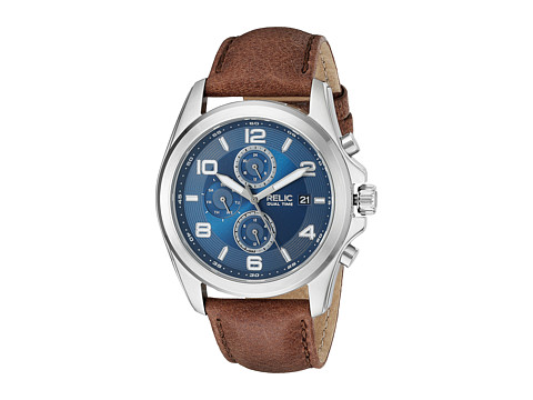 Relic - Daley Strap (Steel/Blue/Brown) Watches