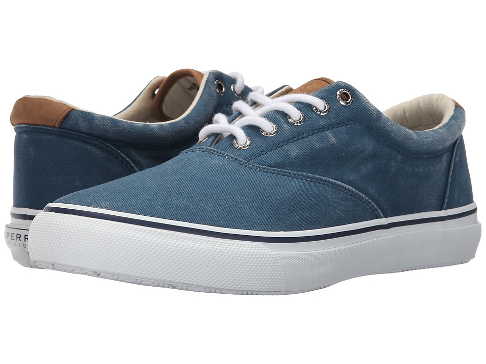 Sperry Top-Sider - Striper CVO Salt-Washed Twill (Blue) Men's Lace up casual Shoes
