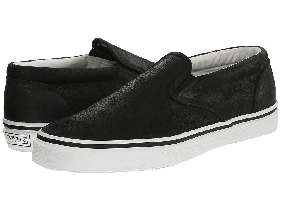 Sperry Top-Sider Striper Slip-On Leather (Black) Men