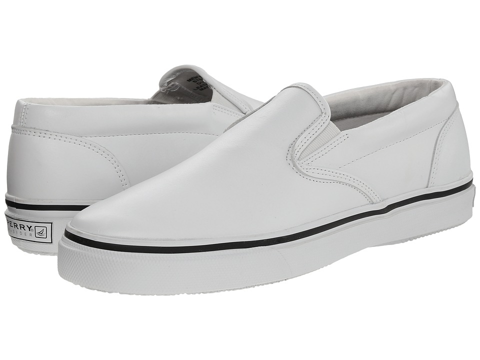 Sperry Top-Sider Striper Slip-On Leather (White) Men