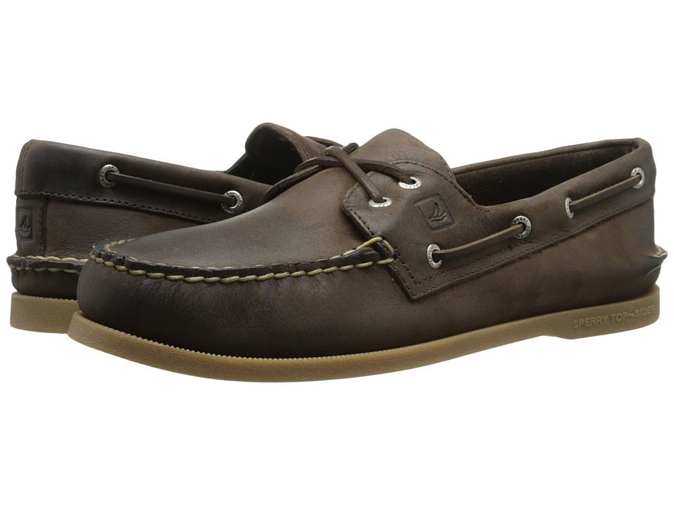 Sperry Top-Sider - A/O 2-Eye Cross Lace (Brown) Men's Lace up casual Shoes
