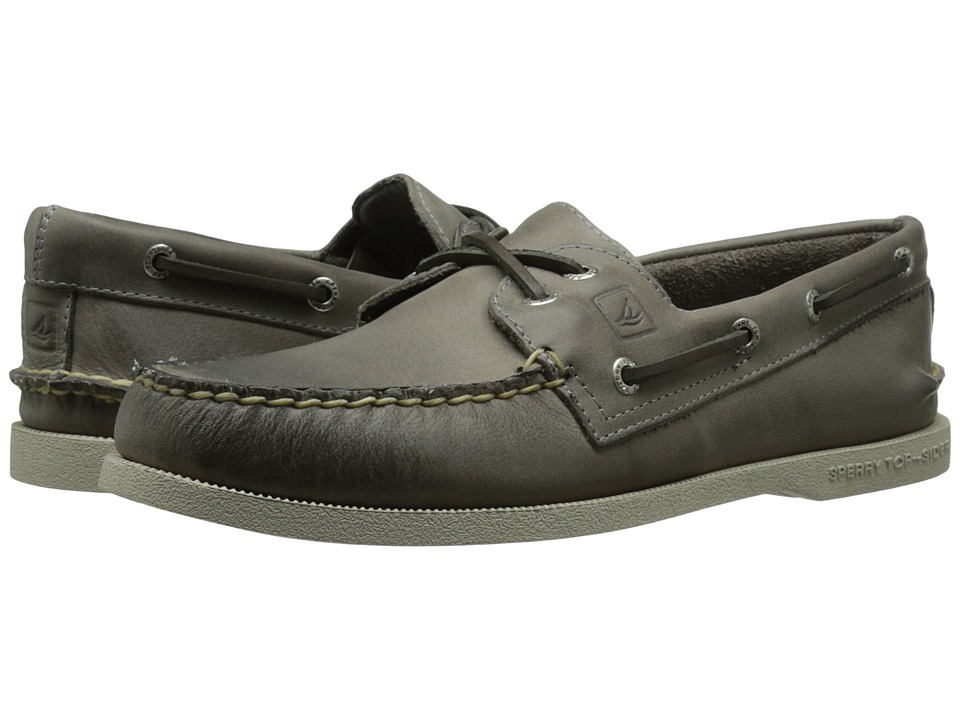 Sperry - A/O 2-Eye Cross Lace (Grey) Men's Lace up casual Shoes