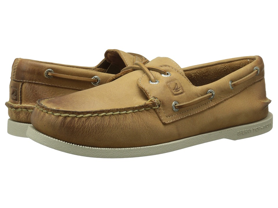 Sperry Top-Sider - A/O 2-Eye Cross Lace (Tan) Men's Lace up casual Shoes
