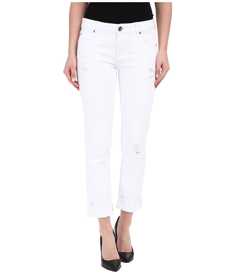 KUT from the Kloth - Catherine Boyfriend Destructed (White) Women's Jeans