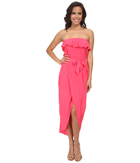 Amanda Uprichard - Joan Maxi Dress (Electric Rouge) Women