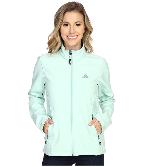 adidas Outdoor - Hiking Soft Shell Jacket (Frozen Green) Women