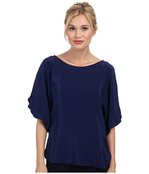 Amanda Uprichard - Jody Top (Navy Light) Women's Short Sleeve Pullover
