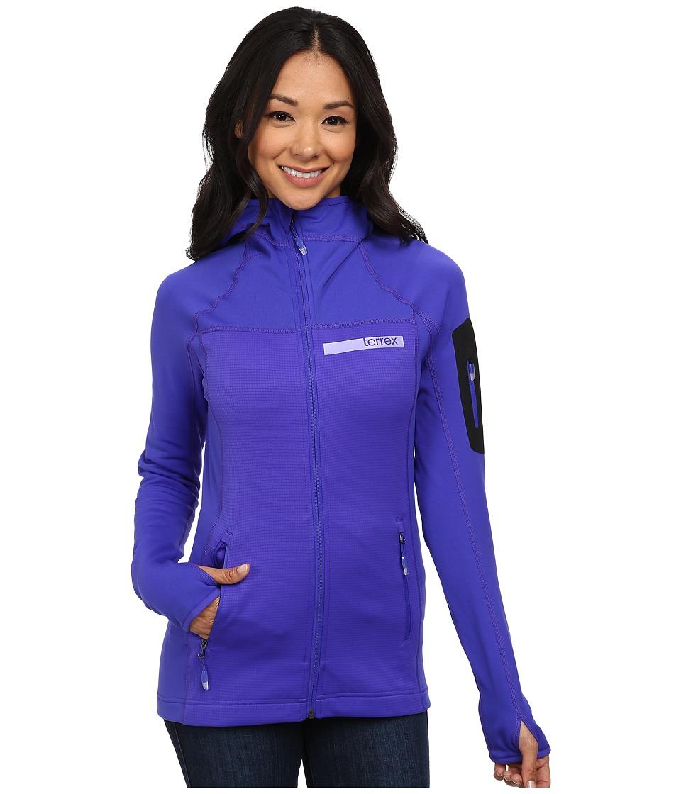adidas Outdoor - Terrex Stockhorn Fleece Hoodie (Night Flash 1) Women's Sweatshirt