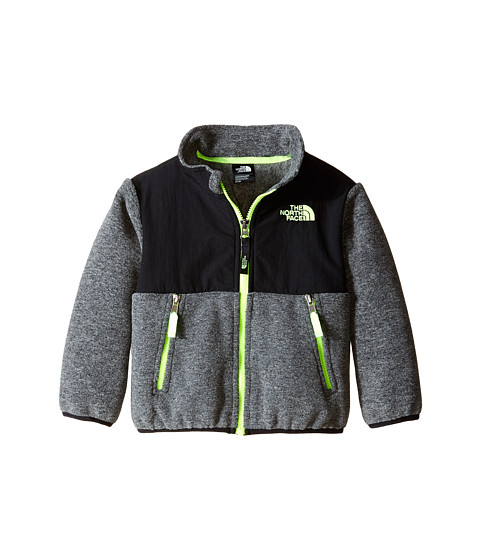 The North Face Kids - Denali Jacket (Toddler) (Recycled Charcoal Grey/TNF Black) Boy's Coat