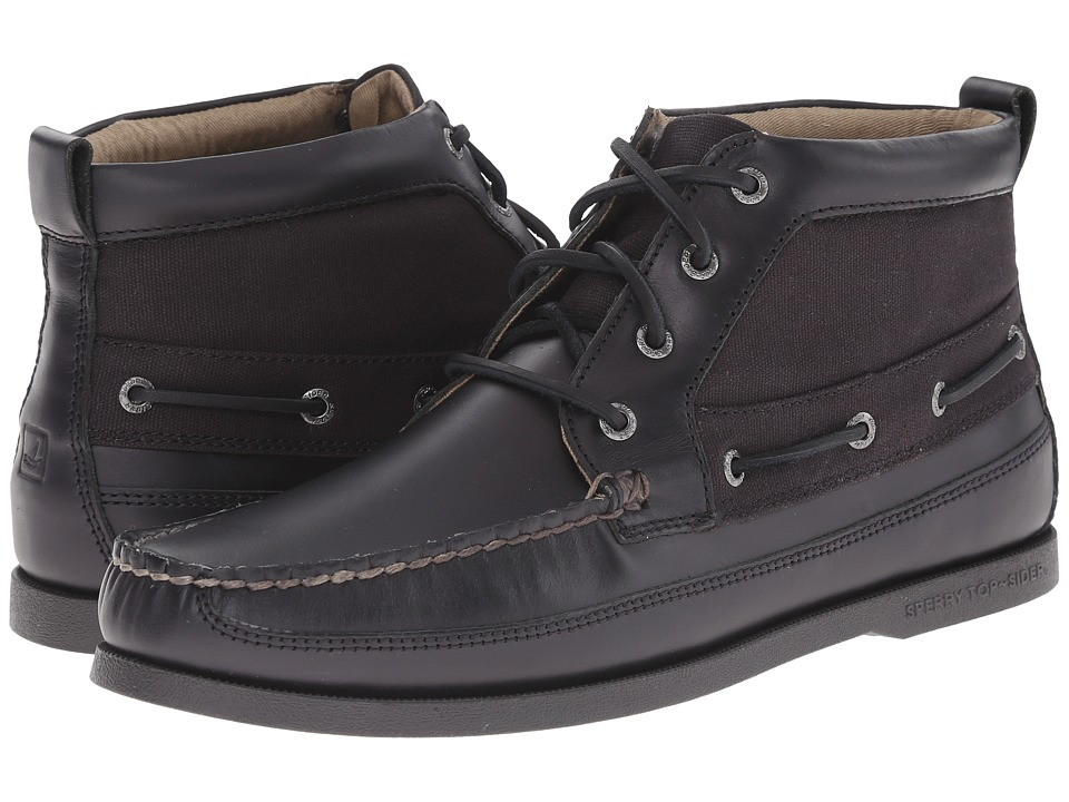 Sperry Top-Sider - A/O Boat Chukka Duck Cloth (Black) Men's Lace up casual Shoes