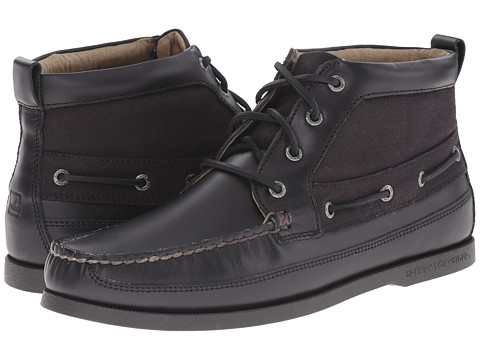 Sperry Top-Sider - A/O Boat Chukka Duck Cloth (Black) Men