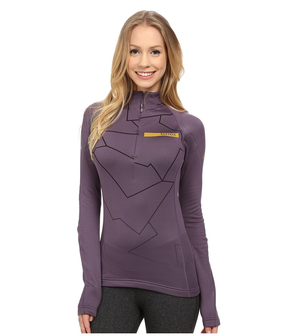 adidas Outdoor - Terrex Icesky Long Sleeve II Top (Ash Purple) Women