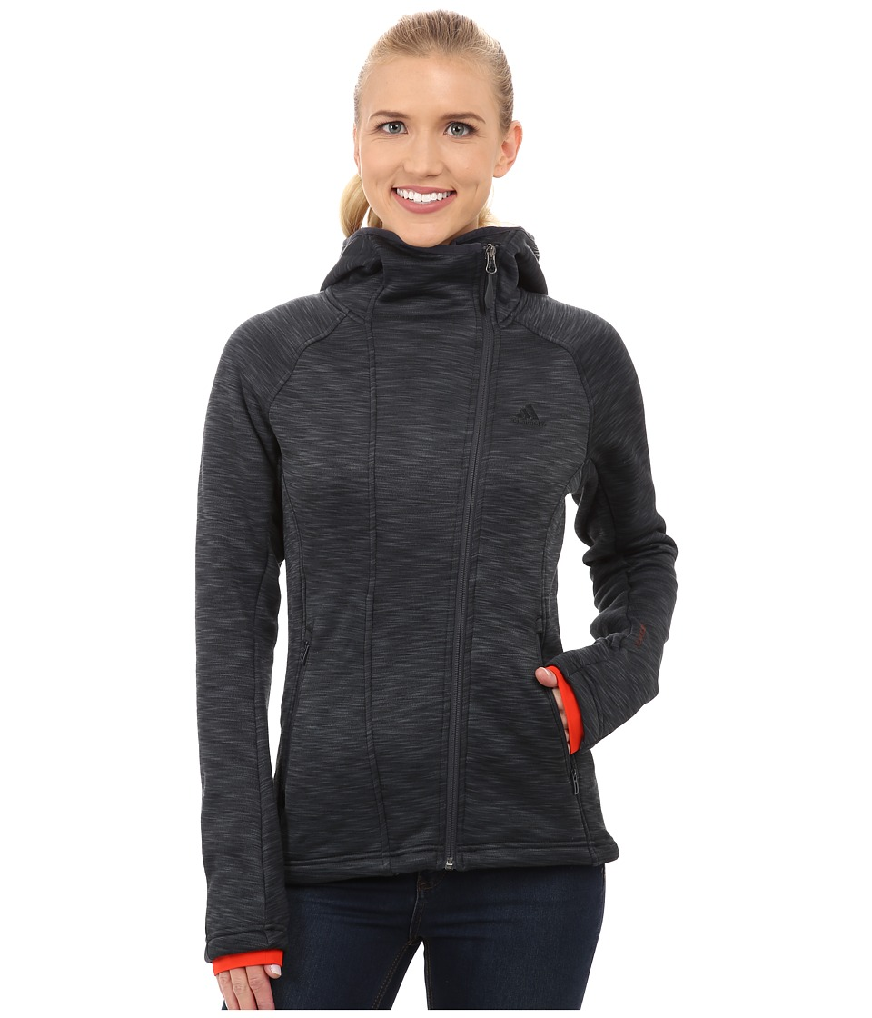 adidas Outdoor - Climaheat Fleece Hoodie (Dark Grey) Women's Sweatshirt