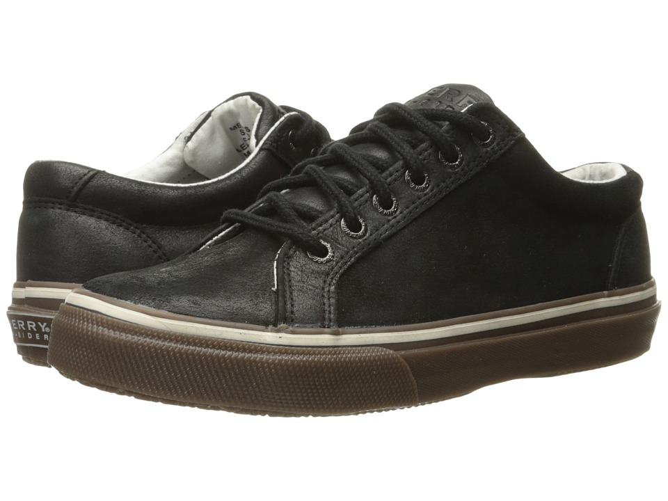 Sperry Top-Sider - Striper LTT Leather (Black/Gum) Men's Lace up casual Shoes