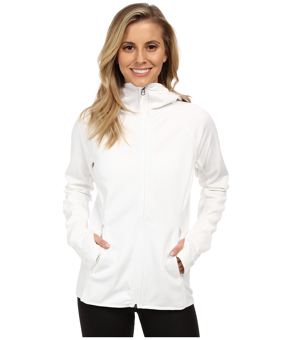 adidas Outdoor - Mountainglow Fleece Hoodie (White) Women's Sweatshirt