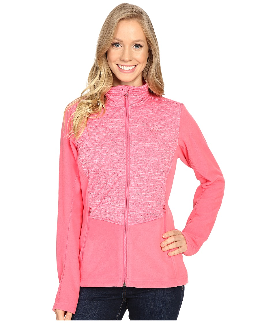adidas Outdoor - Satellize Fleece Jacket (Super Pink) Women's Coat