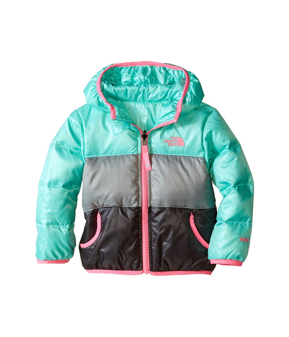 The North Face Kids - Reversible Moondoggy Jacket (Toddler) (Surf Green) Girl's Coat