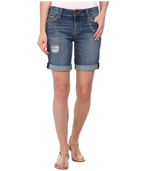 KUT from the Kloth - Catherine Boyfriend Short (Humanity/Medium Base Wash) Women
